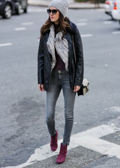 Style Tip: Try a Cold Shoulder with Fur Vest and layers on layers!
