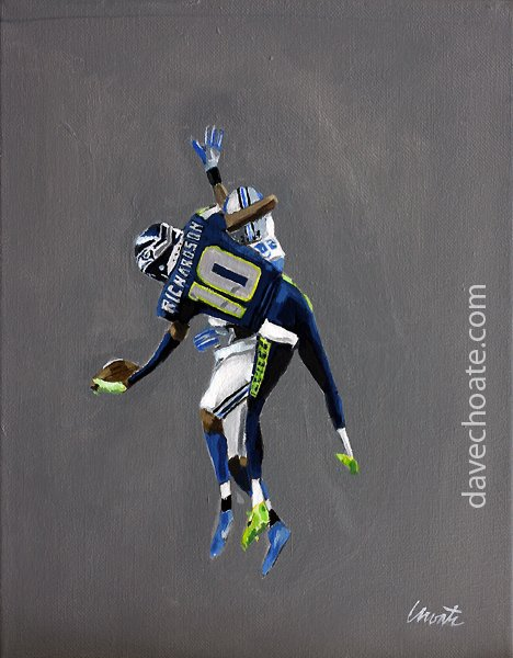 NEW PAINTING. Seahawks, Paul Richardson. https://t.co/sGtmH1VqHS
