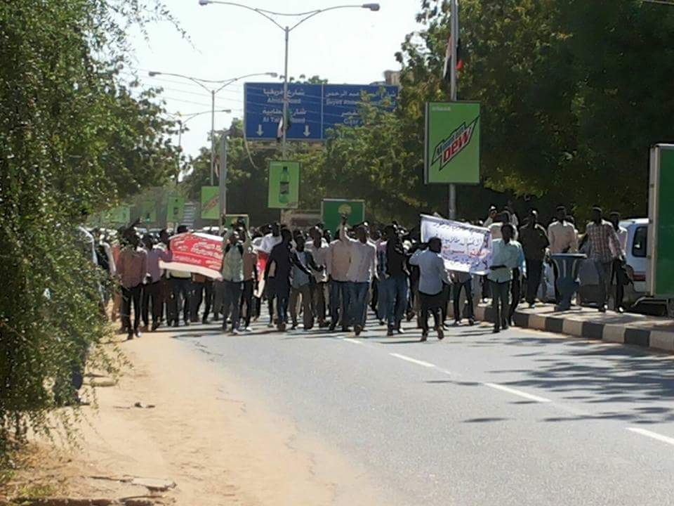Sudan: students in Khartoum are out on the streets to protest against the Bashir government and the ongoing massacres in Darfur
