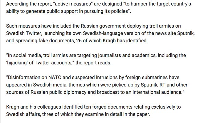Here's how Russia is using covert active measures to destabilize Sweden