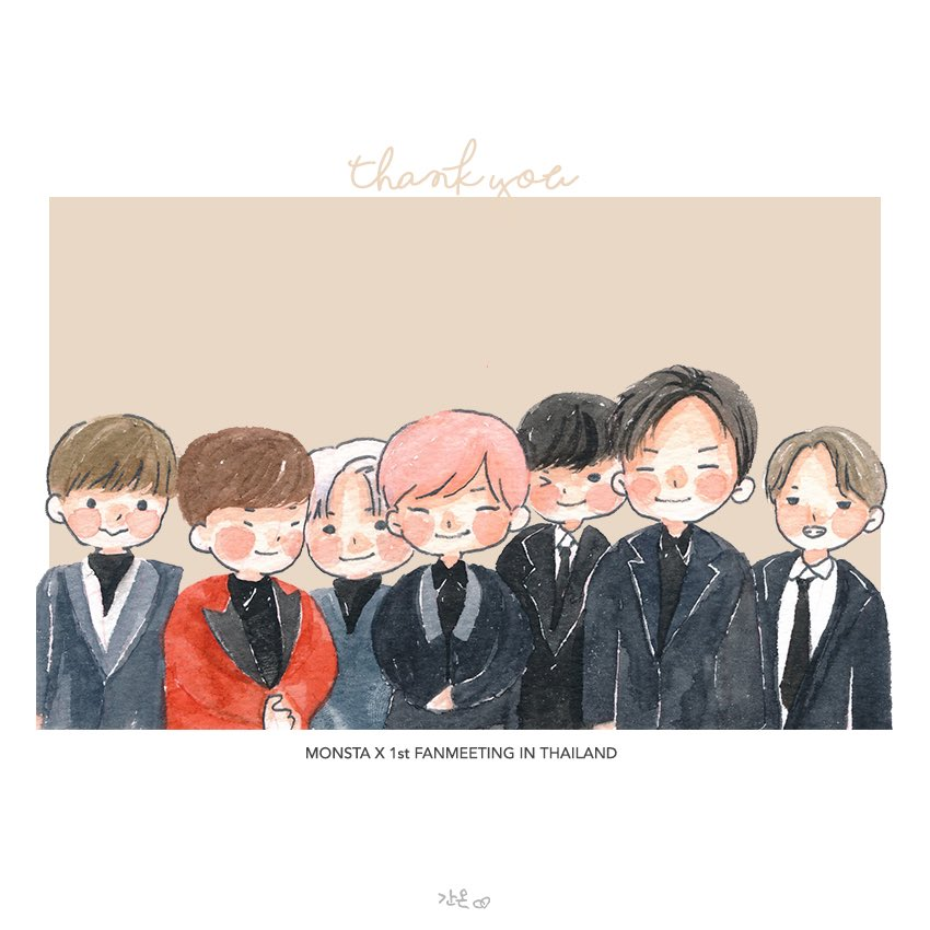THANK YOU MONSTA X!  Hope to see you again  お疲れ様でしたモンエクちゃん 楽しかった!#monstaxfanart #MonstaX1stFanmeetinginTHAILAND  #welcomemonstaxtothailand <br>http://pic.twitter.com/mPeqdBI2Yd