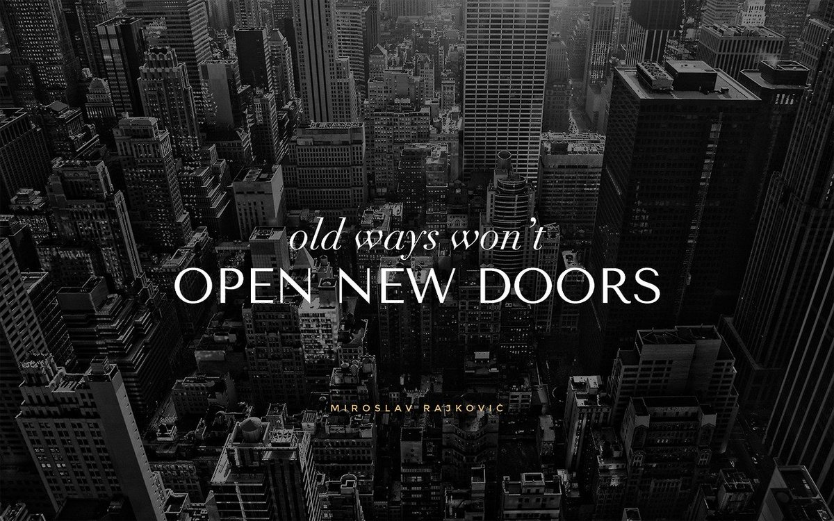 """Quotes About Doors Aish Center On Twitter """"""""old Ways Won't Open New Doors"""