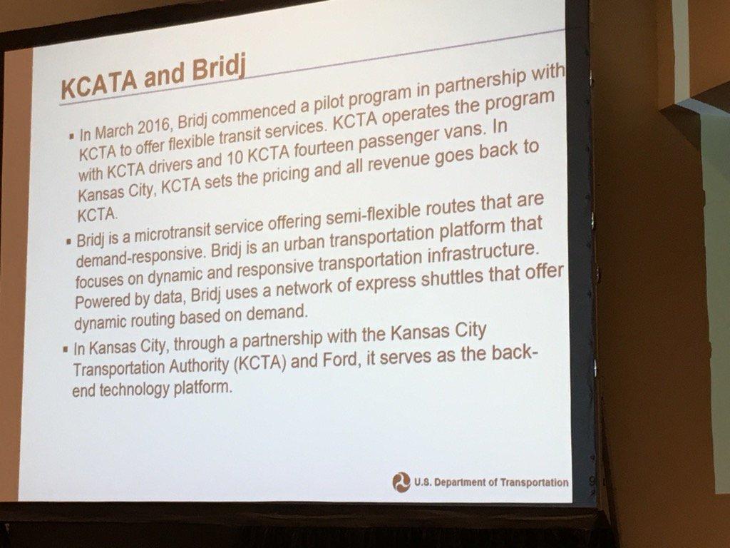 Kansas City and @Bridj partnership @TRBofNA workshop. #sharedmobility @BerkeleyITS @TransitCenter  @transportgooru https://t.co/7ffLMHwVW0