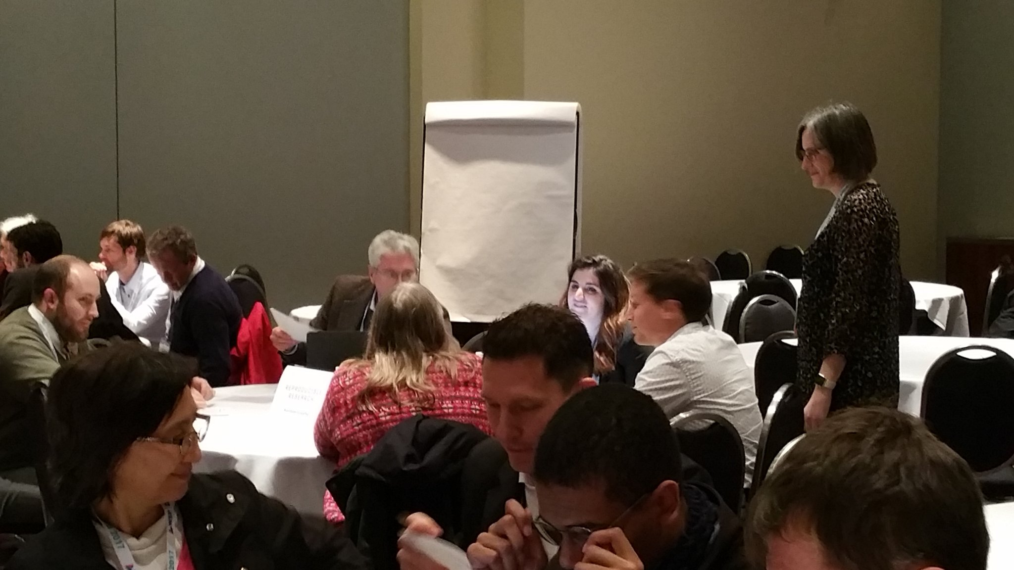 Joan Walker listens to interesting discussion during teamwork at Writing the Road Map for iImproving Travel Analysis Methods #TRBAM https://t.co/44MPbZ4dAO