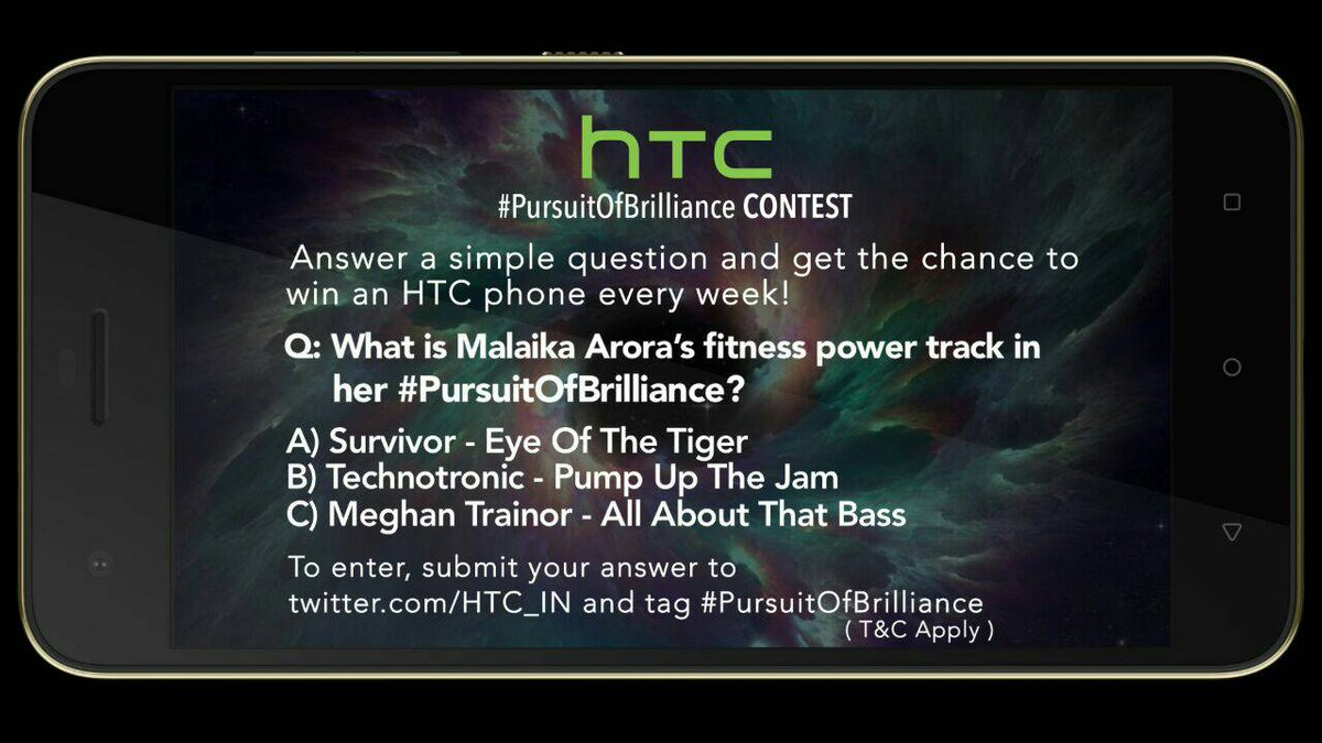 HTC #PursuitOfBrilliance contest is live now @MissMalini @Vh1India #Vh1InsideAccess #HTCDesire10Pro https://t.co/ROYjmtVwvZ