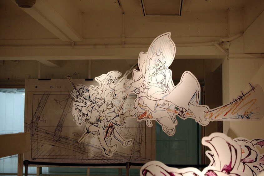 2014年に3331で開催された「リトルウィッチアカデミア」とアニメミライ~等身大原動画でみる作画の魔術~展の等身大サイズの原画展示。これ凄かったからまた見たいな。