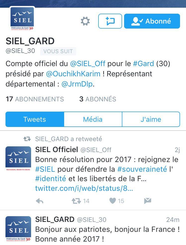 Le #SIEL s&#39;implante dans le #Gard avec @JrmDLP. Merci à mes abonnés de bien vouloir suivre le compte du @SIEL_30<br>http://pic.twitter.com/U5H5IhPLZ5
