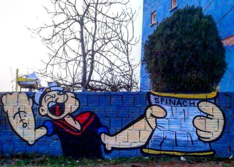 Street Art. Artist unknown.  #art #mural #graffiti #streetart