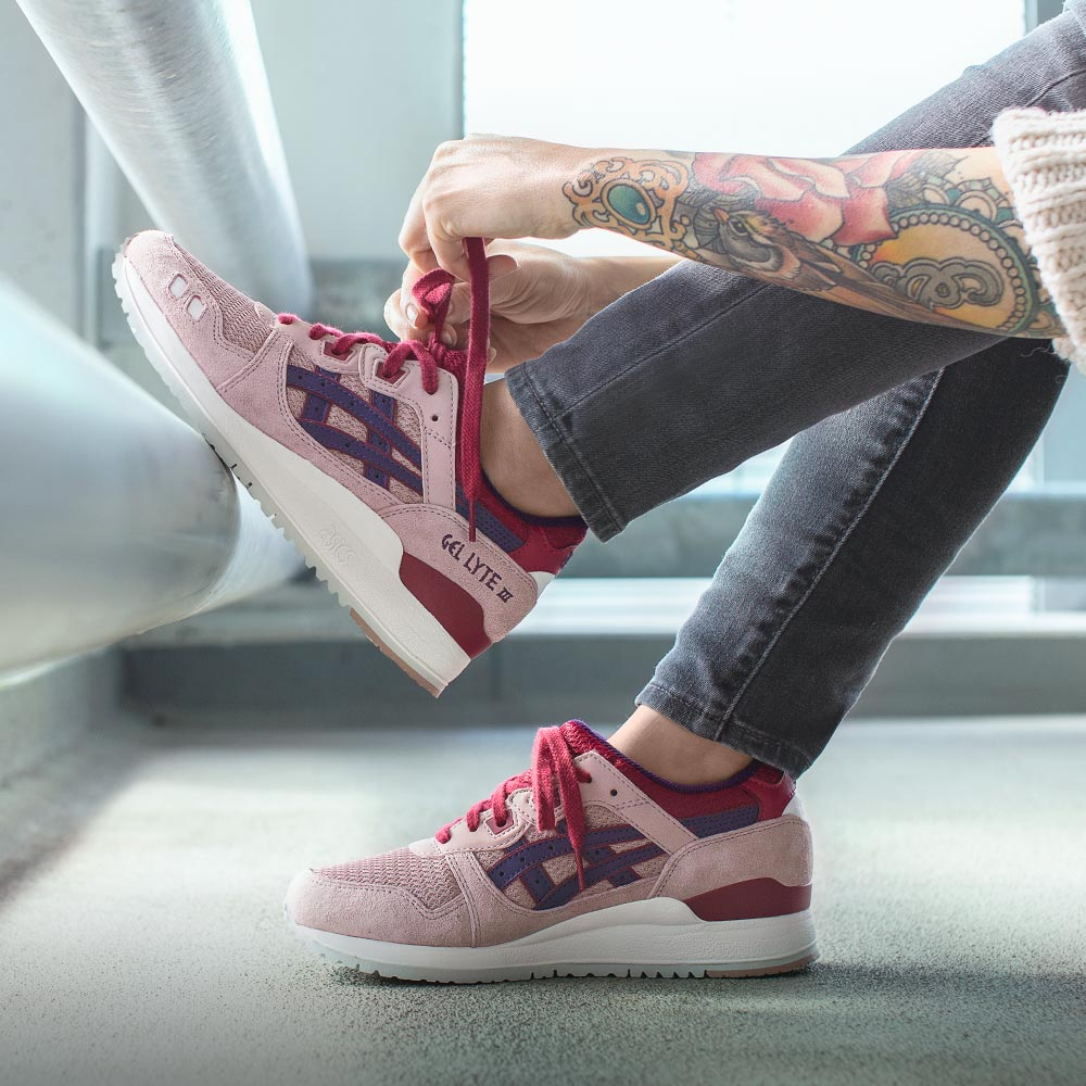 asics gel lyte iii adobe rose