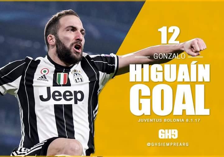 Video Juventus-Bologna risultato esatto 3-0: gol tutti argentini con Higuain (2) e Dybala
