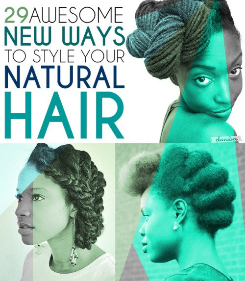 Style your natural hair, just the way it is.