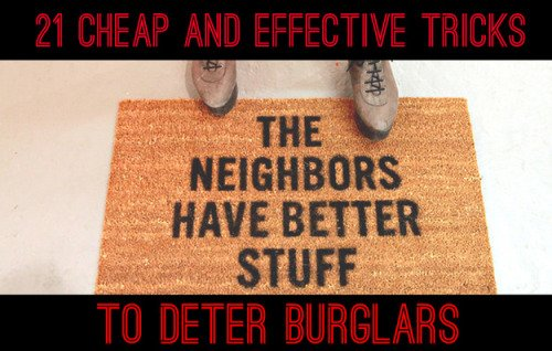 Burglar proof your house right now, it's really easy.