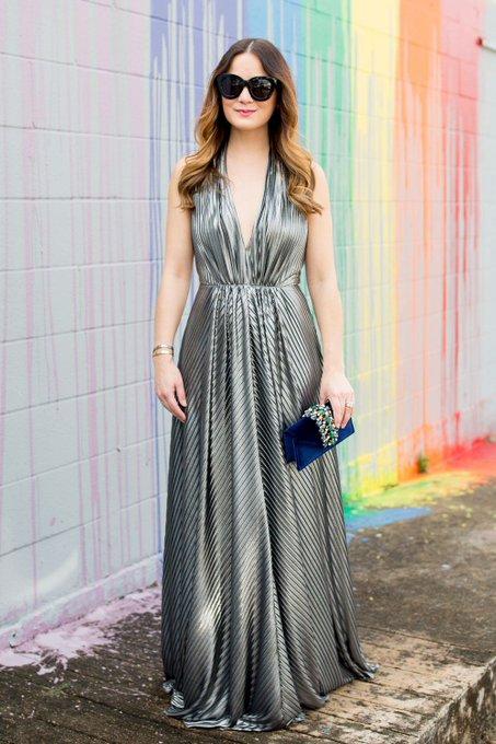 Silver Halter Gown