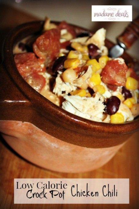 Low Calorie Crock Pot Chicken Chili Recipe