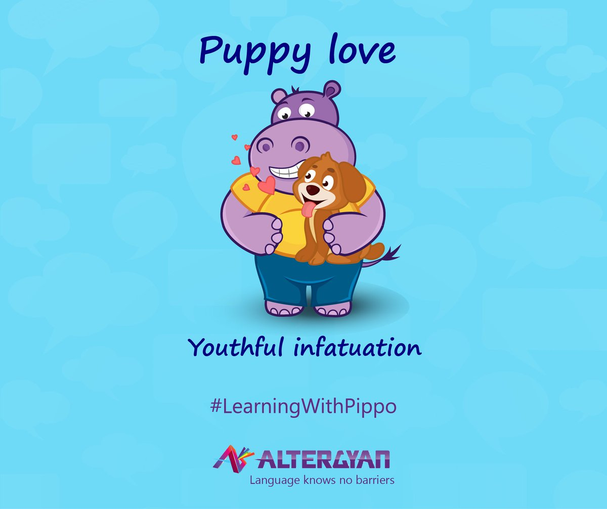 Suffering from #PuppyLove syndrome? Impress others with your knowledge of #EnglishIdioms  #Idioms #LearnEnglishLanguage #English #Vocabulary<br>http://pic.twitter.com/eGXcCcYiR1