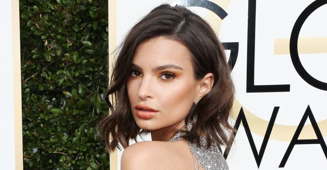 You Need to See Emily Ratajkowski's Golden Globes Dress From Every Angle