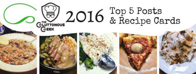 2016's Top 5 Recipes
