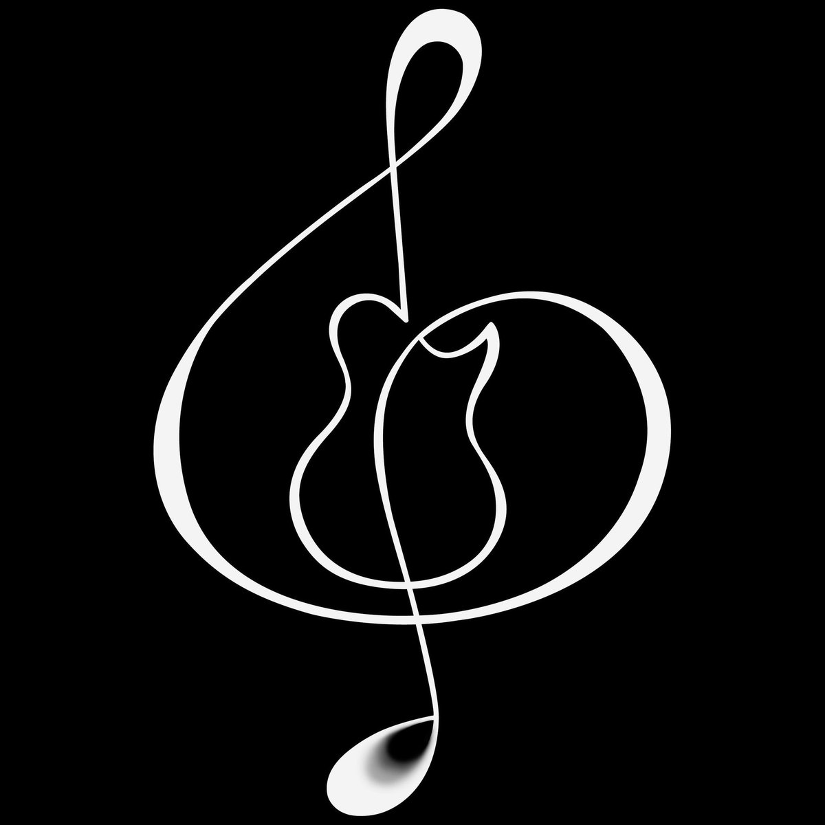 guitarclef™ drawn by Me, in honor of You. #tribute #Artists #musicians #songwriters #luthiers #techs #roadcrew #tourlife #guitars #basses <br>http://pic.twitter.com/vWTKerko5z