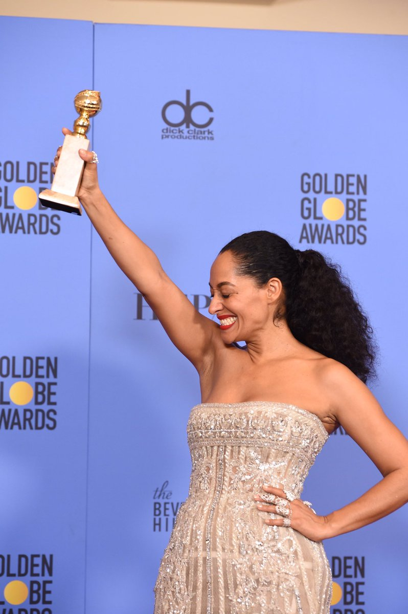 Tracee Ellis Ross is the first black woman to win in her #GoldenGlobe...