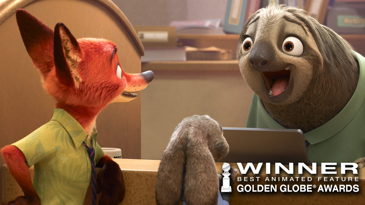 Congratulations to team #Zootopia on their #GoldenGlobe win for Best A...