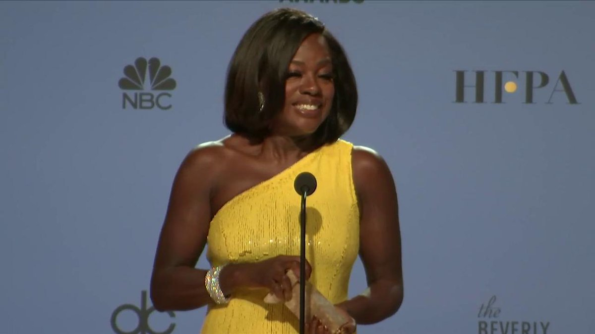 .@ViolaDavis was just asked about Donald Trump's presidency backstage. Watch her response #GoldenGlobes