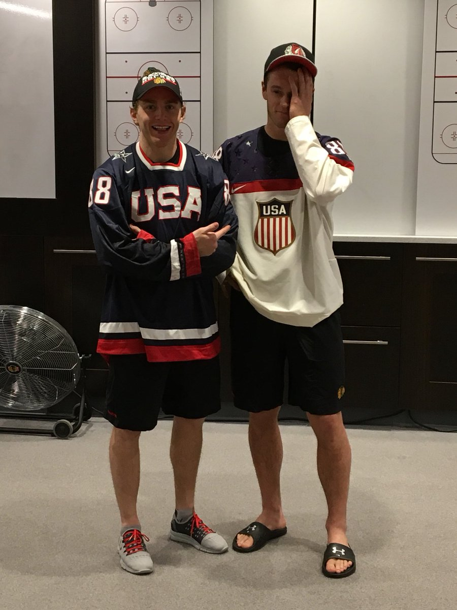 Big win tonight. Big win by USA world juniors too. Now we all get to see @JonathanToews pay up