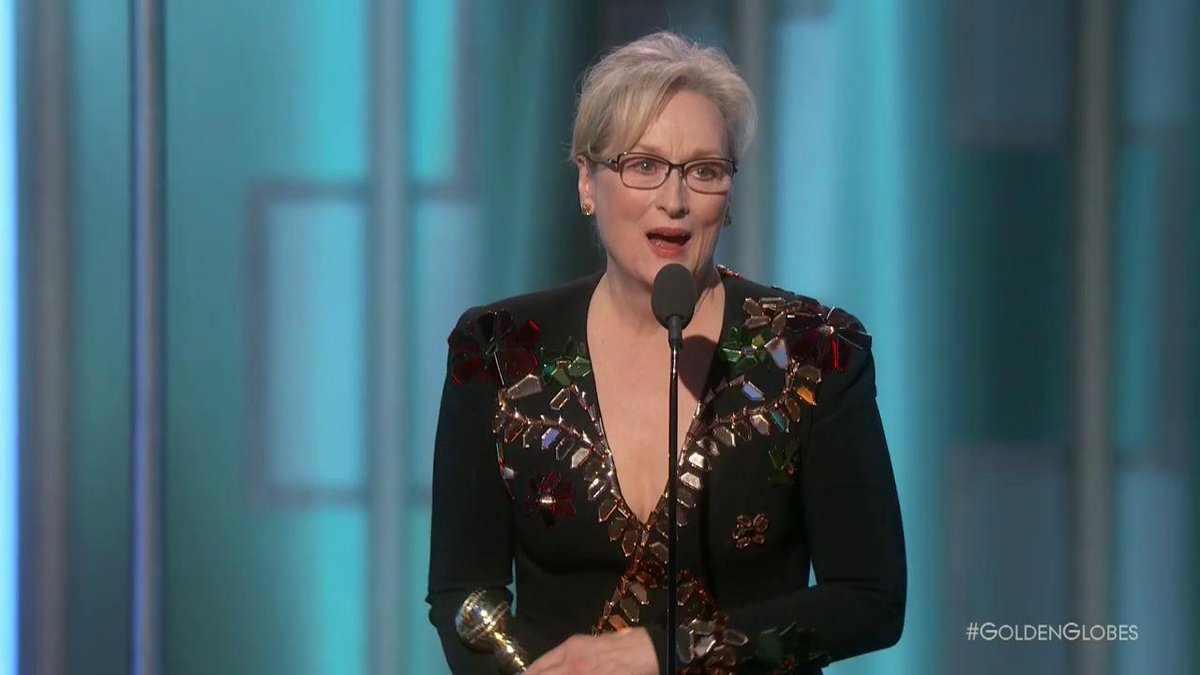 At tonight's #GoldenGlobes we honor Hollywood legend Meryl Streep with the prestigious Cecil B. Demille Award. https://t.co/dxpeCDNXY6
