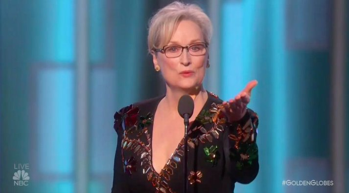 Meryl Streep just gave the most stunning -- and political -- speech of the night #GoldenGlobes https://t.co/YqBSjxEge9