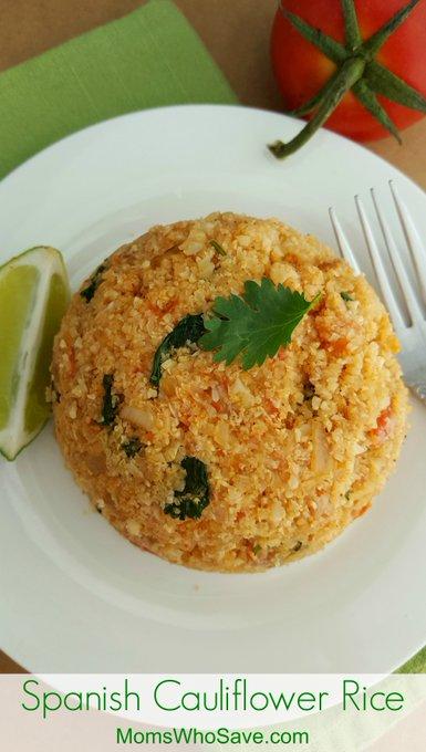 Spanish Cauliflower Rice (Gluten Free)
