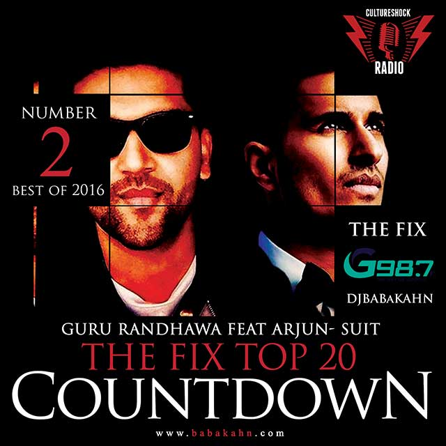 "#bestof2016 Top 20 Countdown #thefix on @G987FM  NUMBER #2 ""Suit"" @ArjunArtist @GuruOfficial   #congrats #bigtune https://t.co/1PnJKQ7MgF"