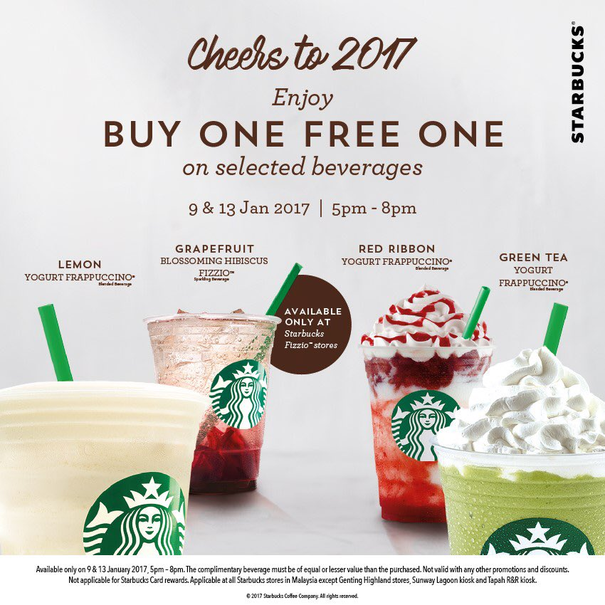 Celebrating 2017 with a Buy One Free One! See you at 5pm to 8pm! :) https://t.co/g3T4cDNCiP