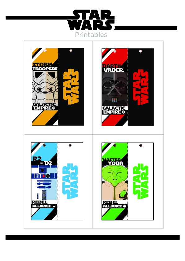 photo about Star Wars Bookmark Printable called printablebookmark hashtag upon Twitter