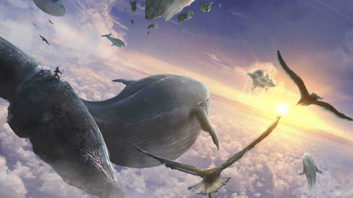 Картинки кита в небе