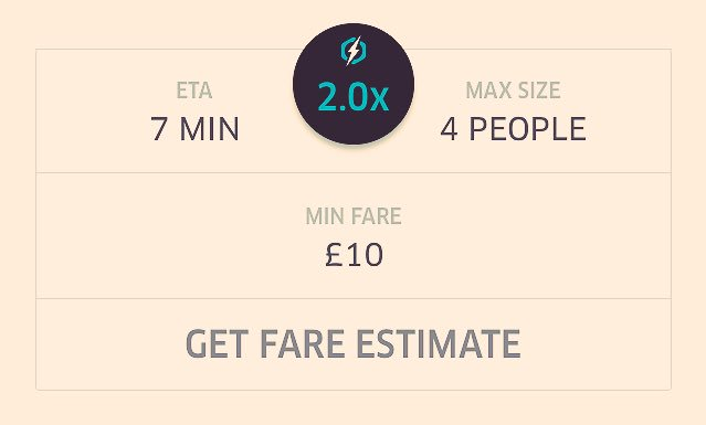 2x Surge on Uber at the minute. They must love #TubeStrike days https://t.co/KF4RHYeXiR