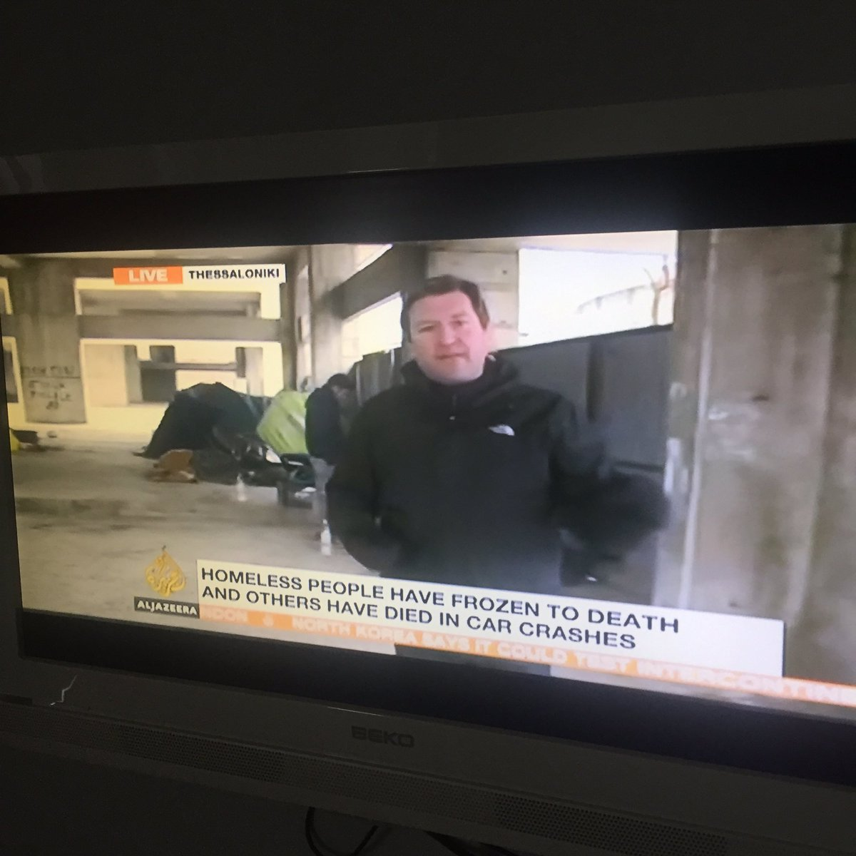Al Jazeera reporting in Thessaloniki that Syrian refugees are organizing to feed not only other refugees but homeless Greeks in frigid temps