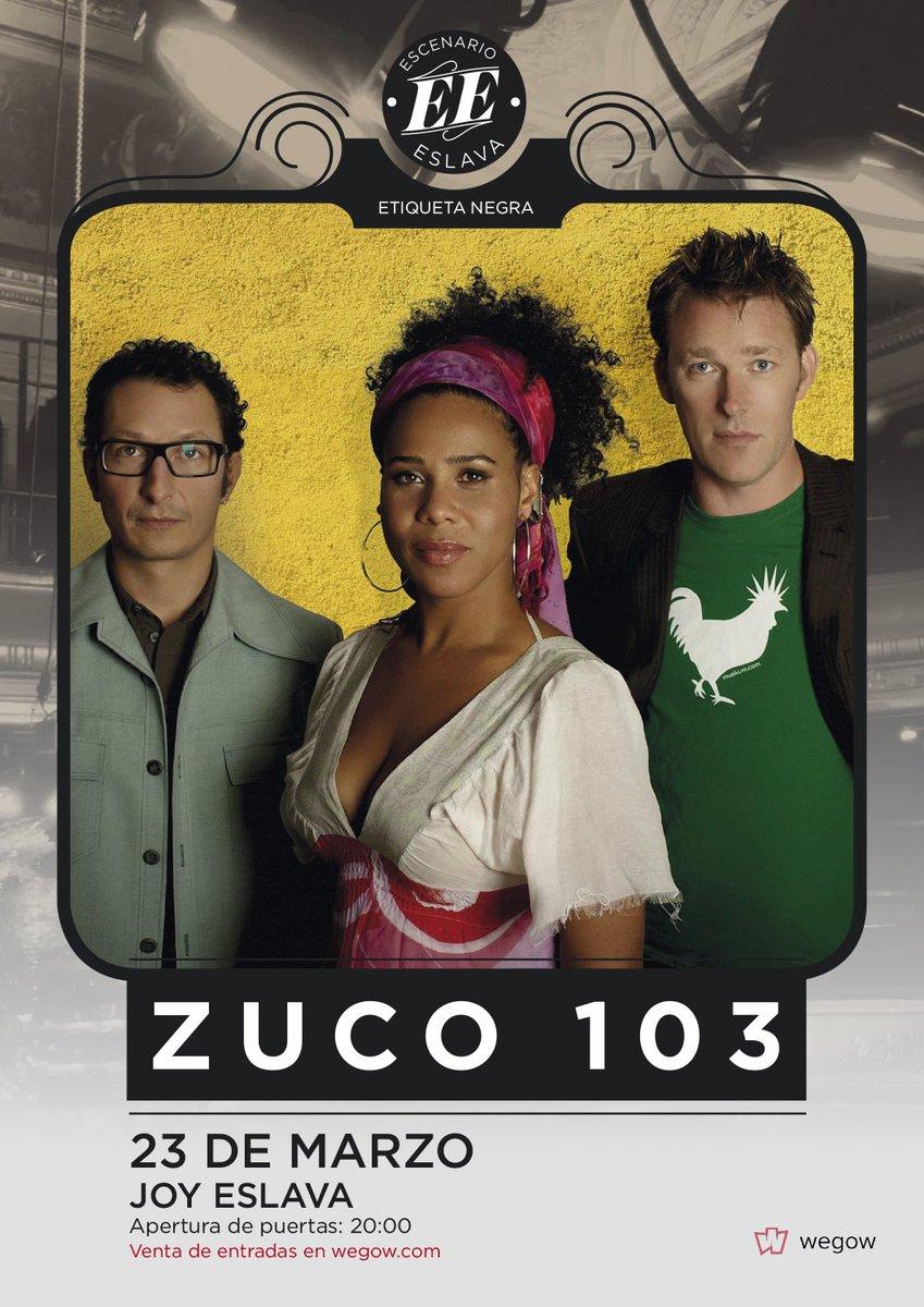 El 23/Mar @zuco103music estarán en la @JoyEslava1 con la #EtiquetaNegra del @EscenarioEslava.  http:// tickets.wegow.com/entradas/zuco- 103-en-escenario-eslava &nbsp; …  #MadridAndMusic<br>http://pic.twitter.com/0TmUek6twj