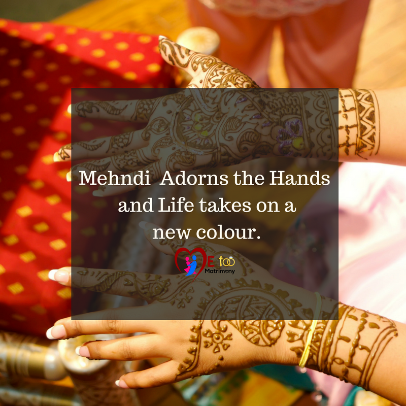 Mehandi Quotes In English