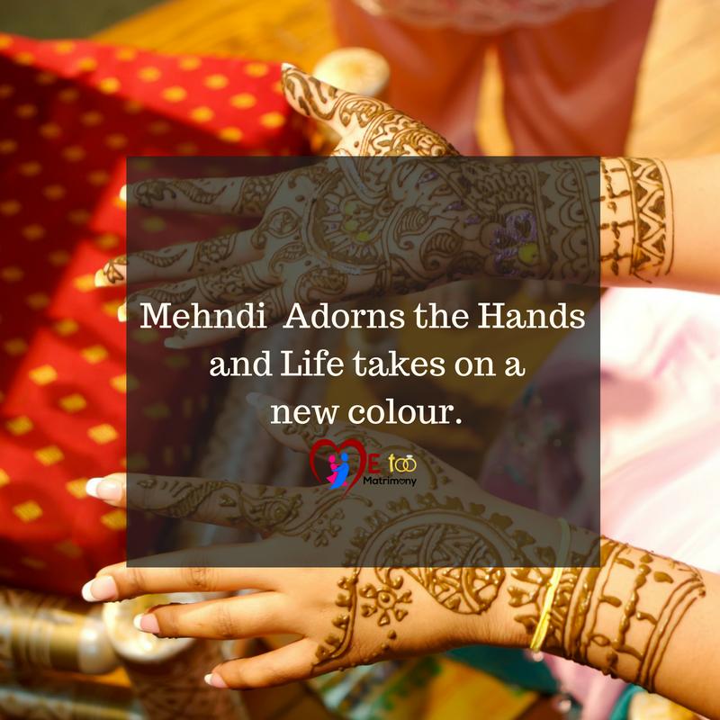 Mehandi Quotes In English Wedding Ideas