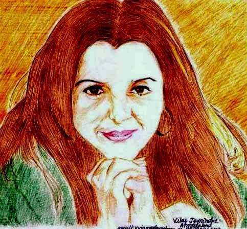 Happy Birthday to Farah Khan..sketch made up of you..hope you will like it