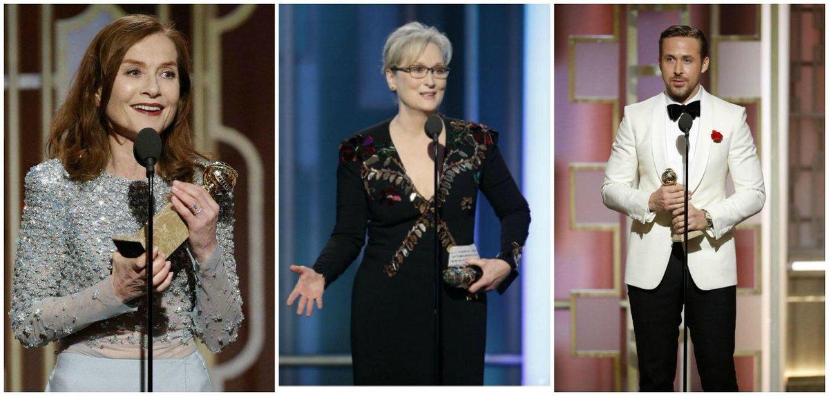 Isabelle Huppert, Meryl Streep et Ryan Gosling : leurs discours émouvants aux #Golden Globes  http:// bit.ly/2i8BQAD  &nbsp;  <br>http://pic.twitter.com/6sTw4agAeI