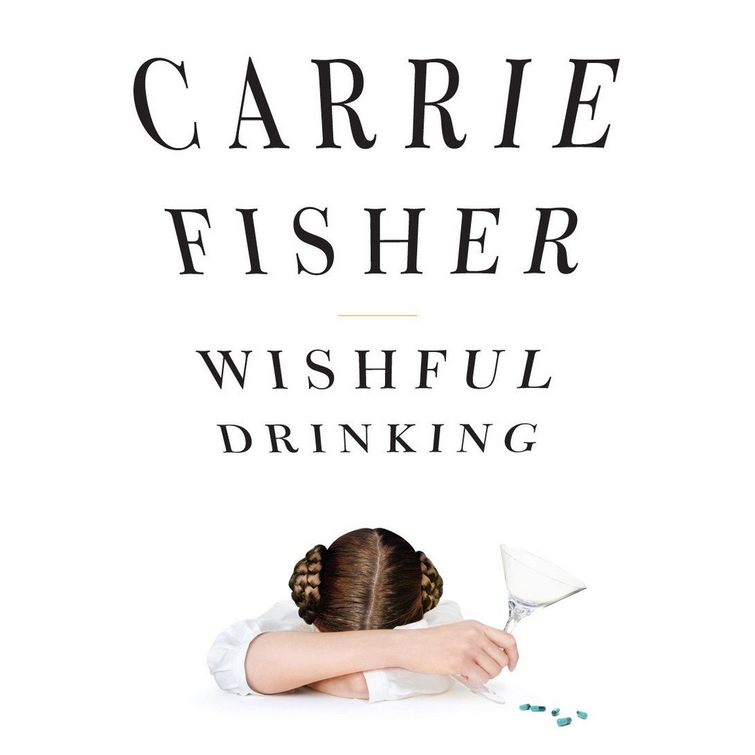 Continuing our #AIGA5050 bookends w/ Carrie Fisher's Wishful Drinking | Evan Gaffney Design, NY NY, 2008 #AIGAarchives https://t.co/8IHeEa3vX1