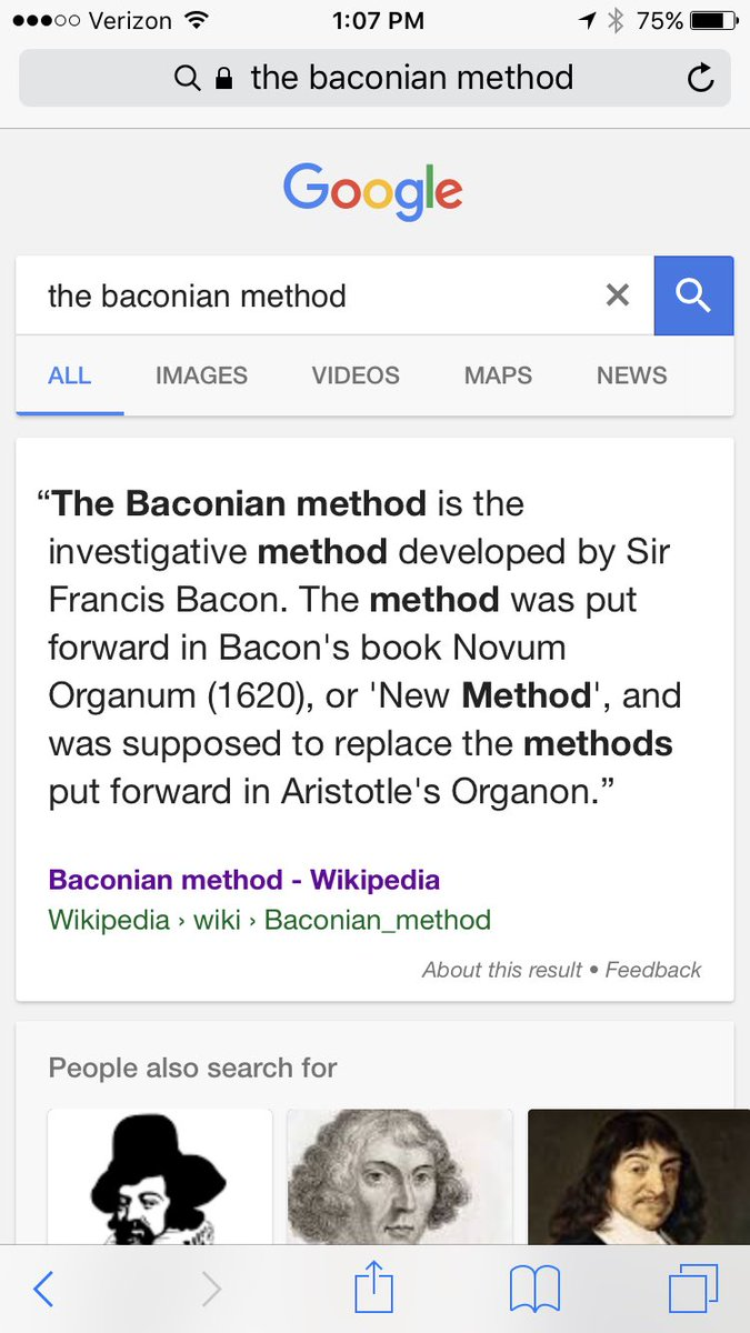 the baconian method