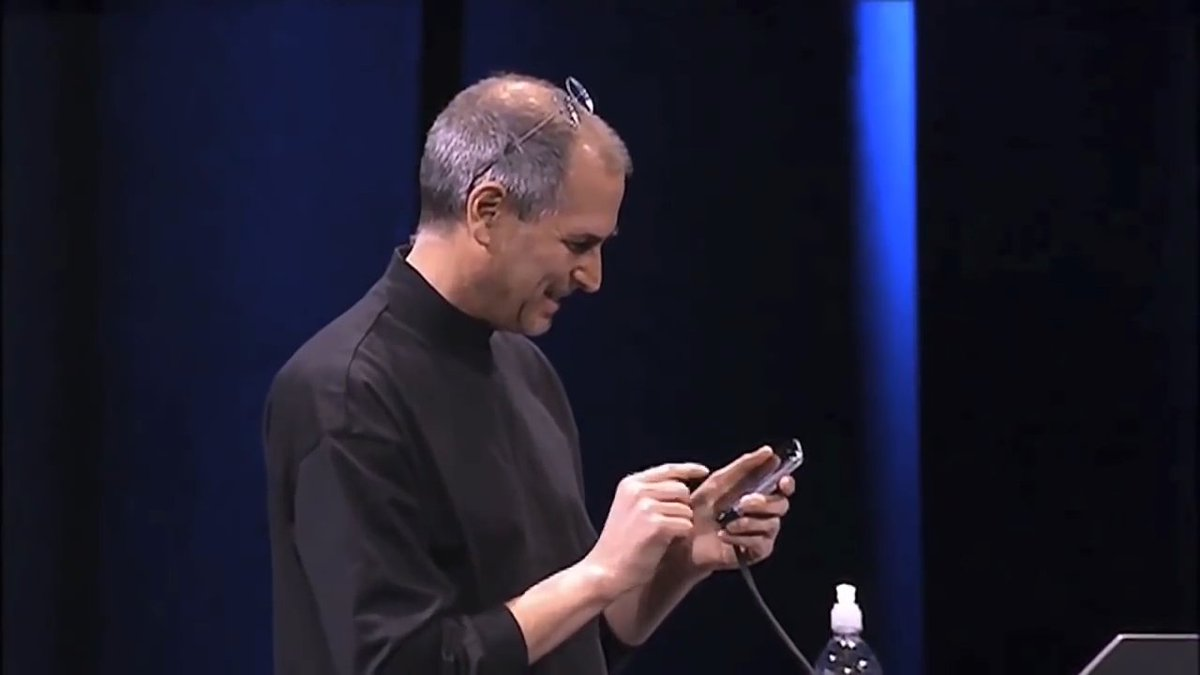 Here's the moment Steve Jobs unveiled the #iPhone, a decade ago.  #iPh...