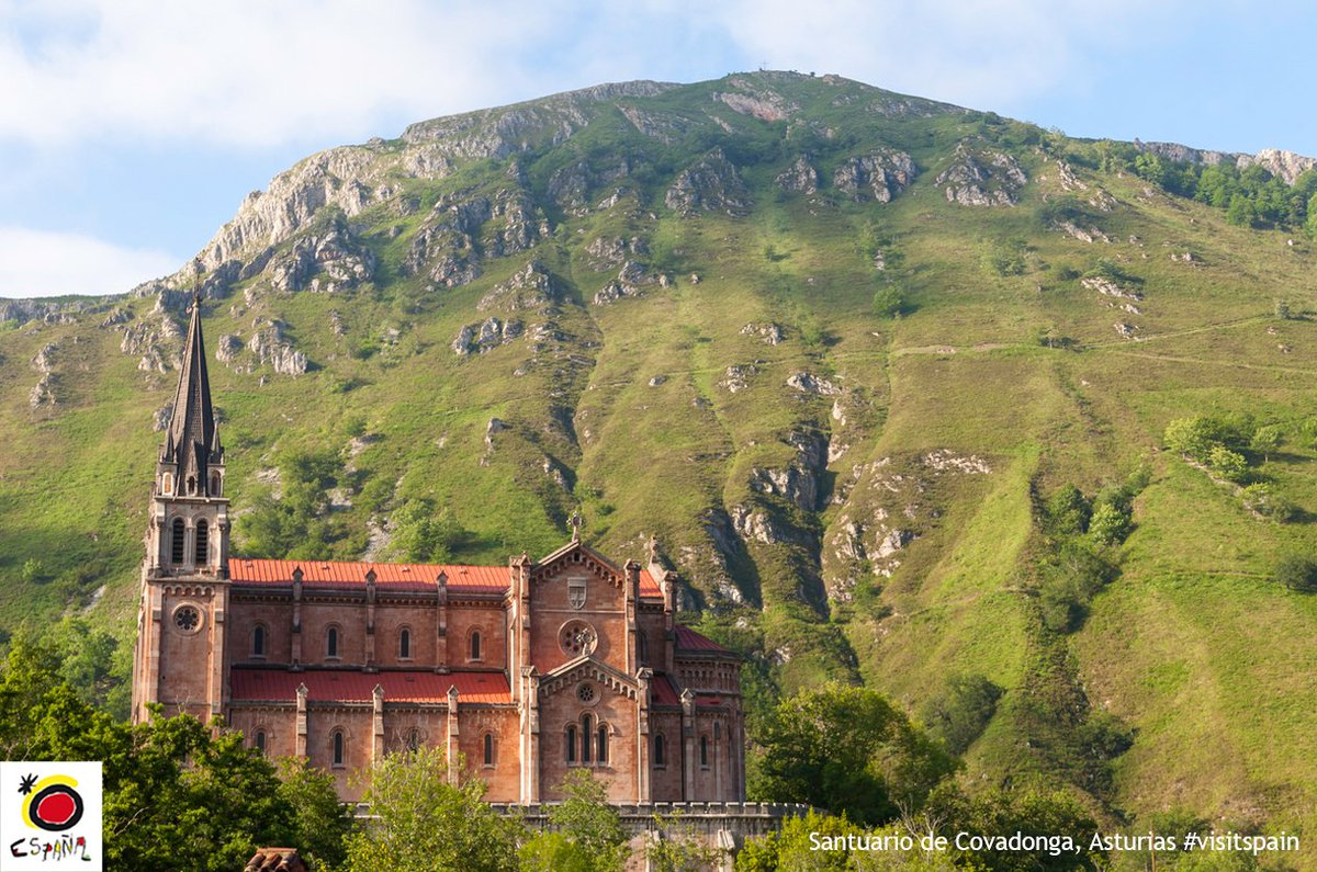 At the foot of the #PicosdeEuropa mountains, there is a place where spirituality reigns supreme: the Holy Place of #Covadonga. #Asturias<br>http://pic.twitter.com/iv7uOLmJMH