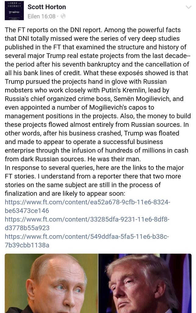 Donald Trump was bailed out of bankruptcy by Russia crime ...