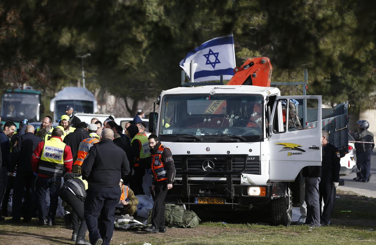 Israeli authorities arrested nine suspects following truck attack in Jerusalem that left four soldiers dead, according to police spokesman.