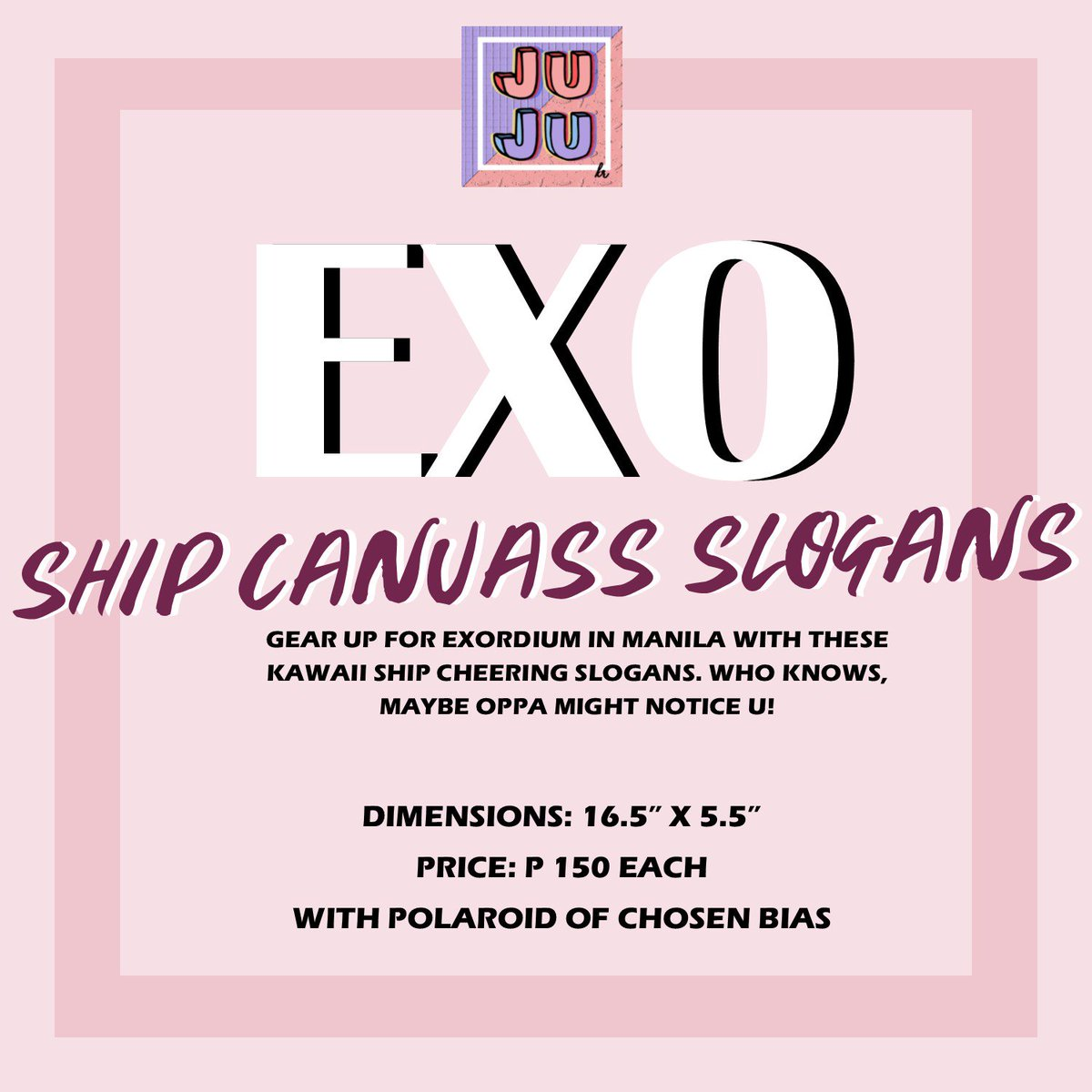[PLS HELP RT!!!!] #EXOrDIUMinManila Ship Slogans now out for P150, limited slots per ship only! #kaisoo #sekai #sulay #chanbaek #xiuchen<br>http://pic.twitter.com/WWvTwMow3X