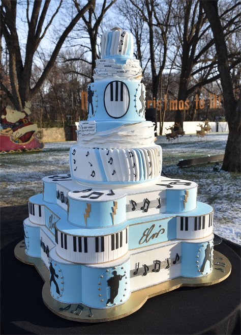 Magnificent Graceland On Twitter Elvis 2017 Birthday Cake Was The Largest Funny Birthday Cards Online Fluifree Goldxyz