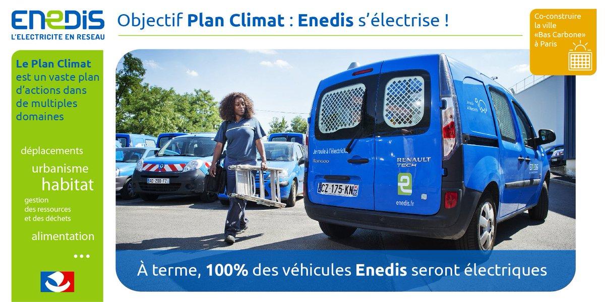 #PlanClimat: @enedis s&#39;engage! 100% de nos véhicules seront électriques @Paris! #TransitionEnergétique #Climat @BienVEnu_IDF @AvereFrance<br>http://pic.twitter.com/rojzyjTGnB