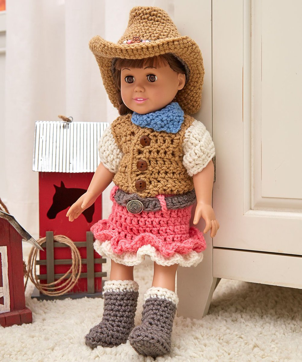 Red Heart Yarns On Twitter Dollie Cowgirl Partner Free Crochet